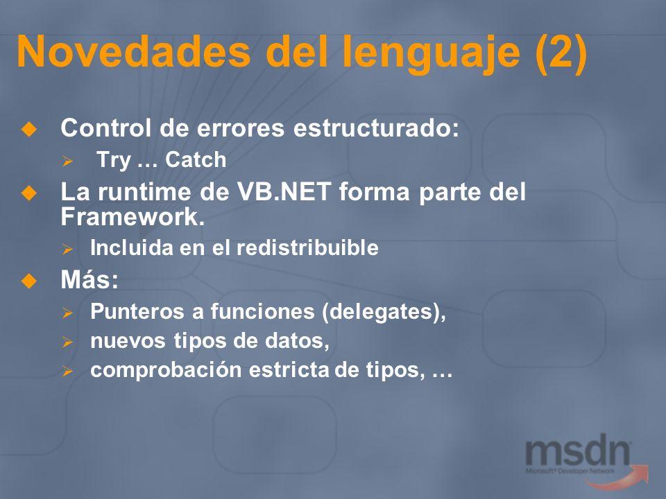 Novedades del lenguaje (2)