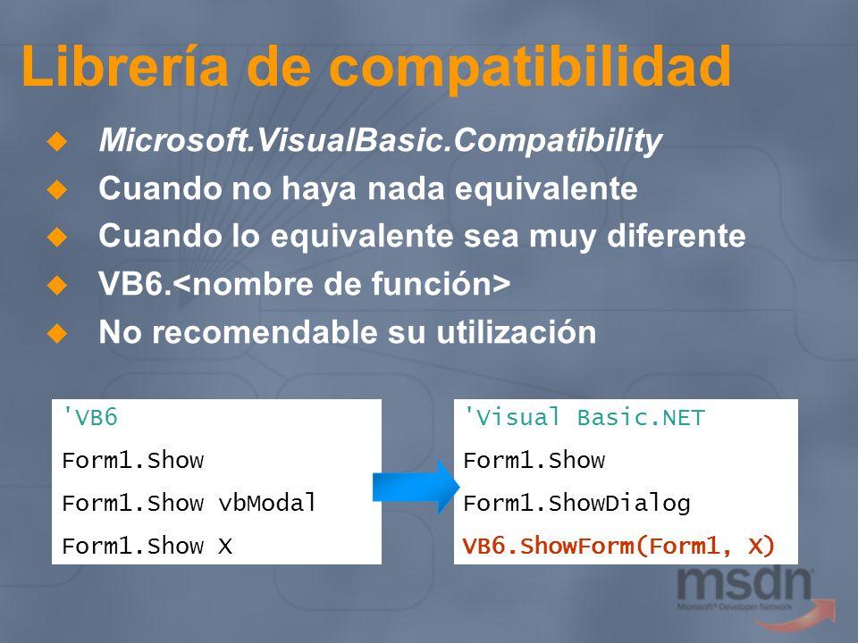 Librería de compatibilidad