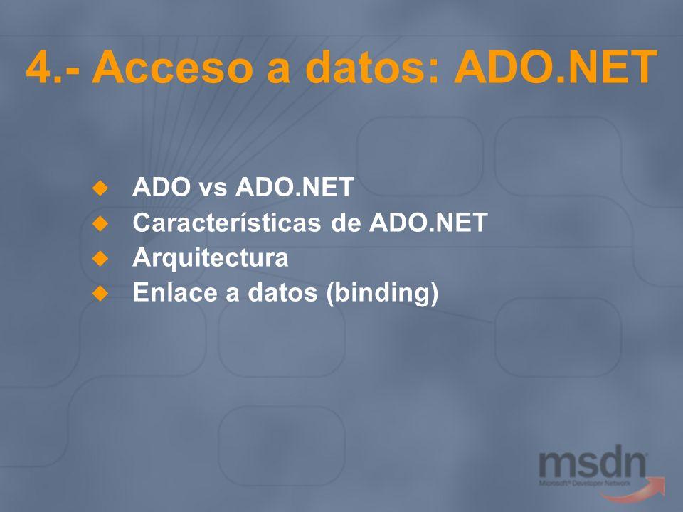 4.- Acceso a datos: ADO.NET
