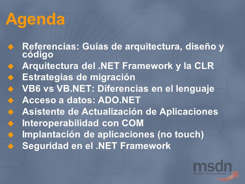 Agenda Referencias: Guías de arquitectura, diseño y código
