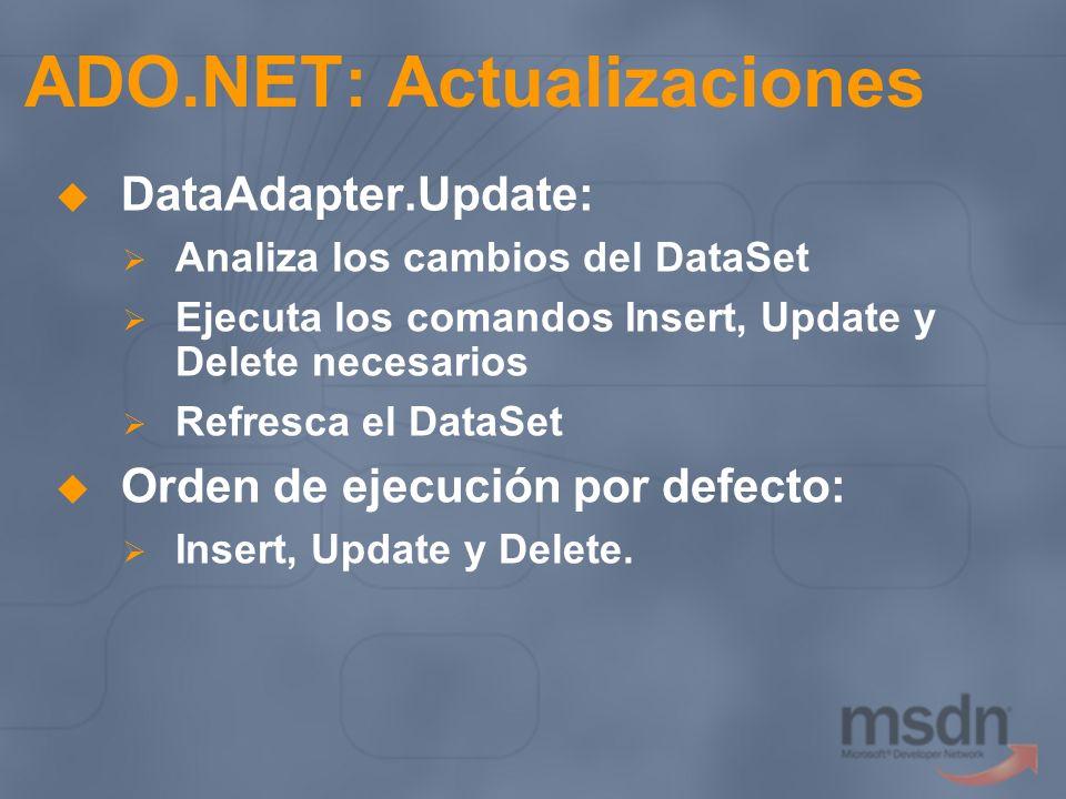 ADO.NET: Actualizaciones
