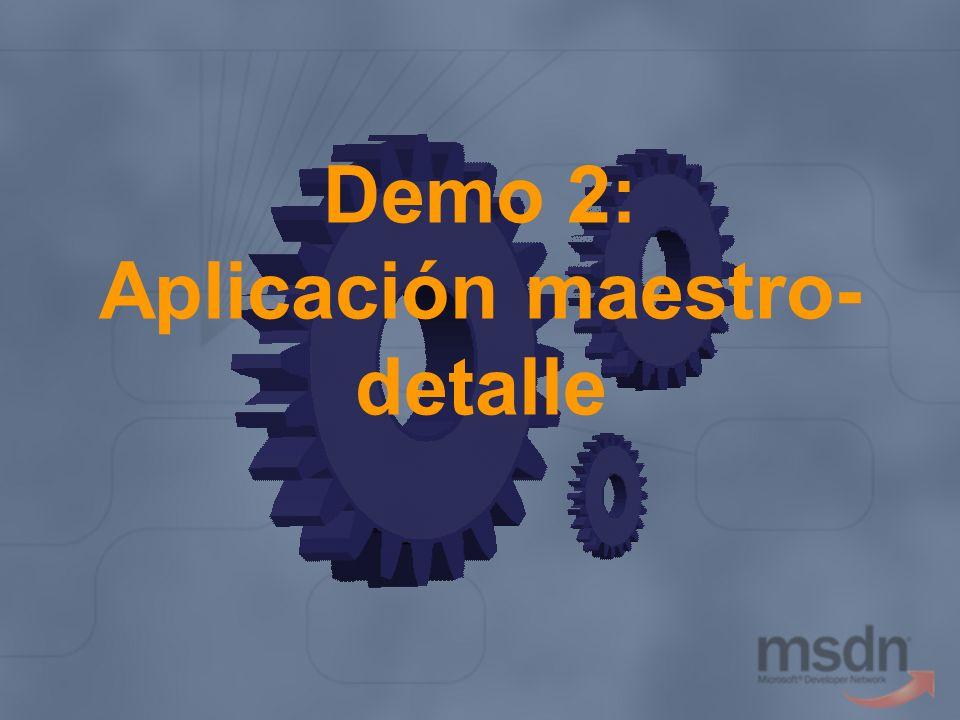 Demo 2: Aplicación maestro-detalle