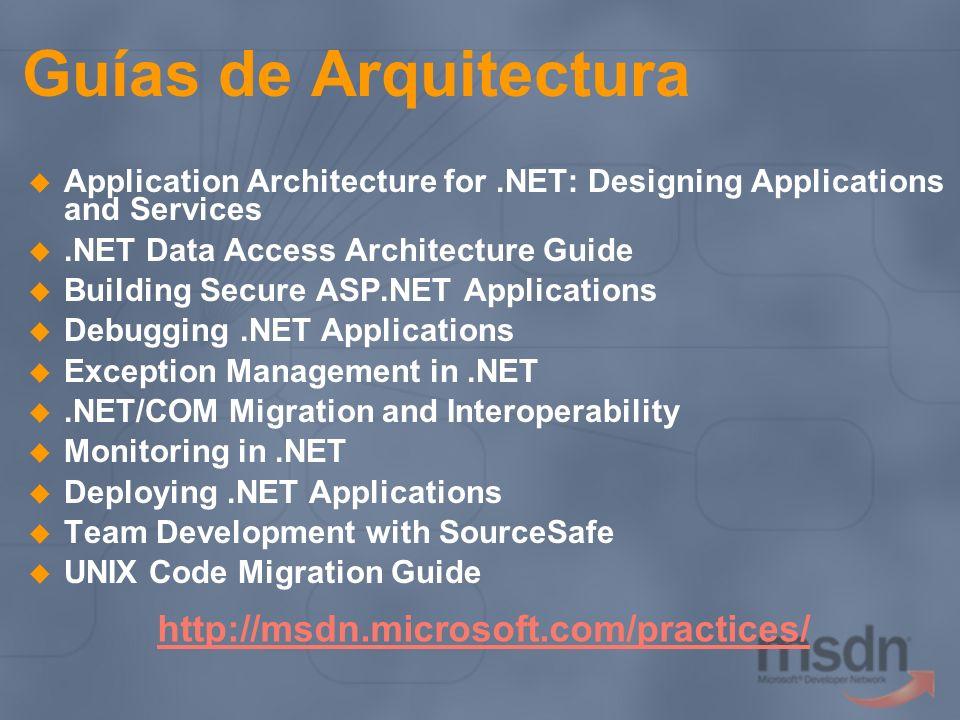 Guías de Arquitectura http://msdn.microsoft.com/practices/
