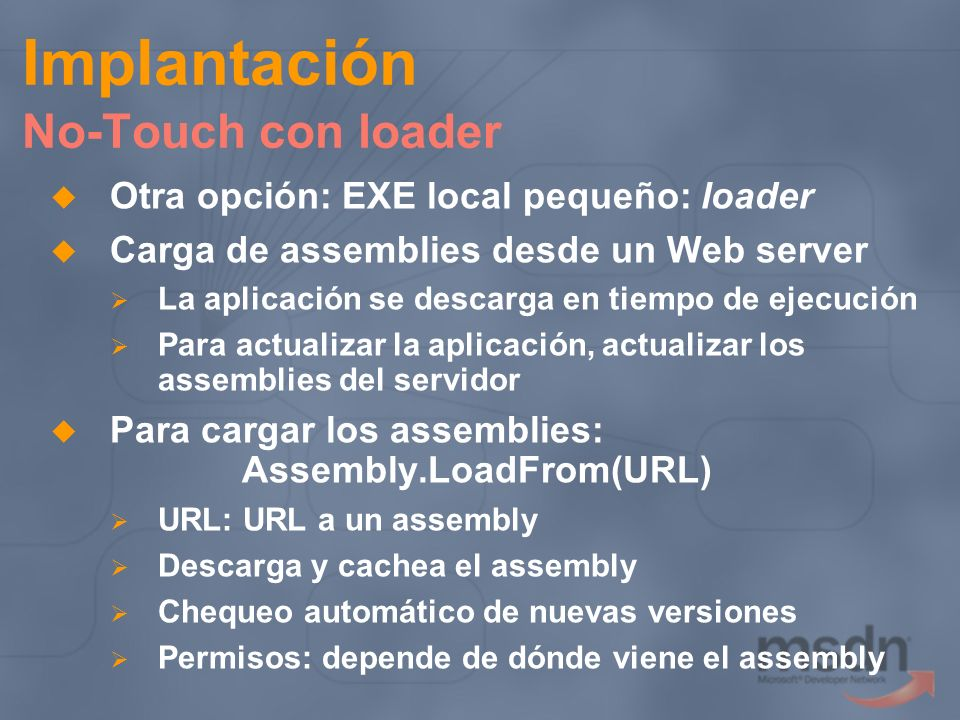 Implantación No-Touch con loader