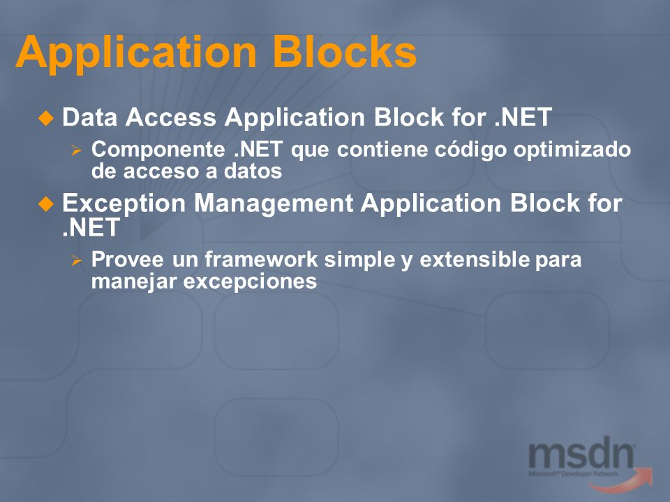 Application Blocks Data Access Application Block for .NET