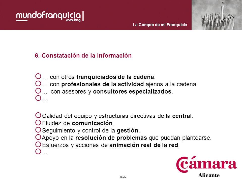 6. Constatación de la información