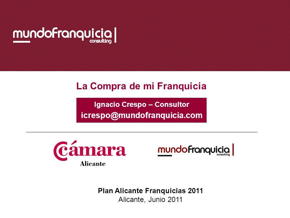 Ignacio Crespo – Consultor Plan Alicante Franquicias 2011
