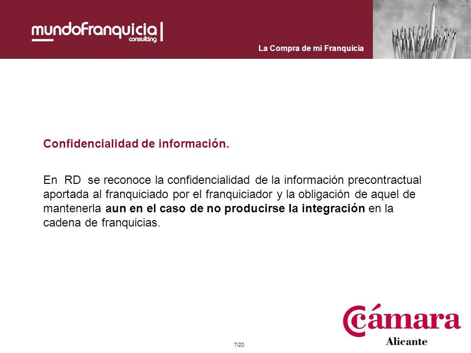 Confidencialidad de información.