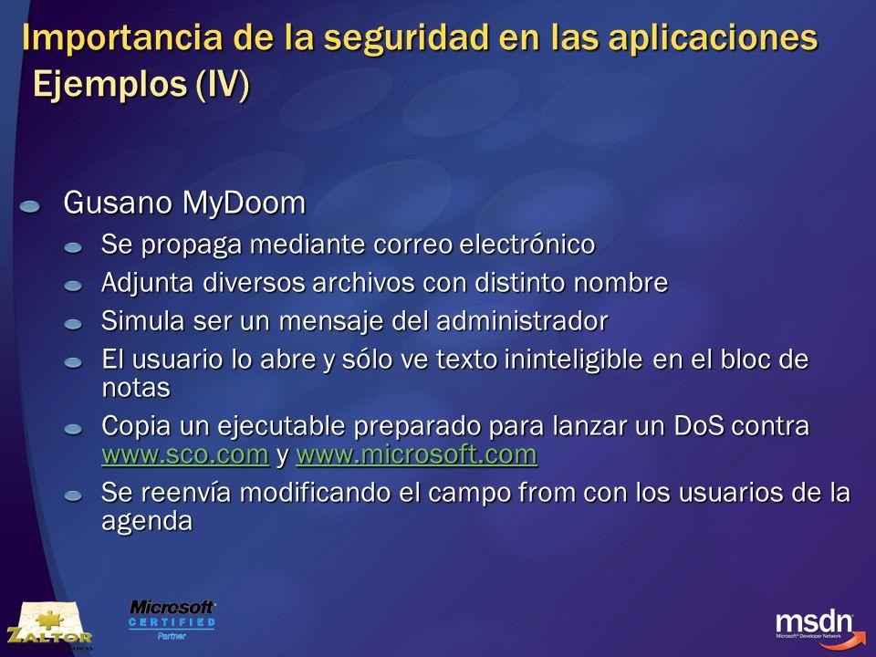 Importancia de la seguridad en las aplicaciones Ejemplos (IV)