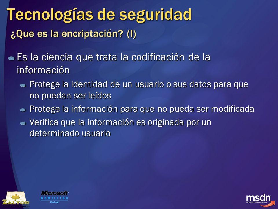 Tecnologías de seguridad ¿Que es la encriptación (I)