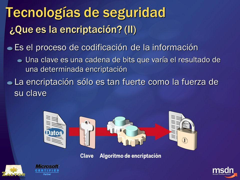 Tecnologías de seguridad ¿Que es la encriptación (II)