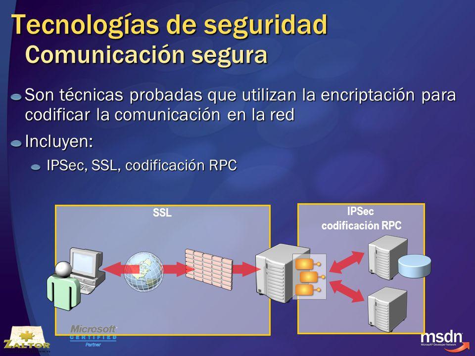 Tecnologías de seguridad Comunicación segura