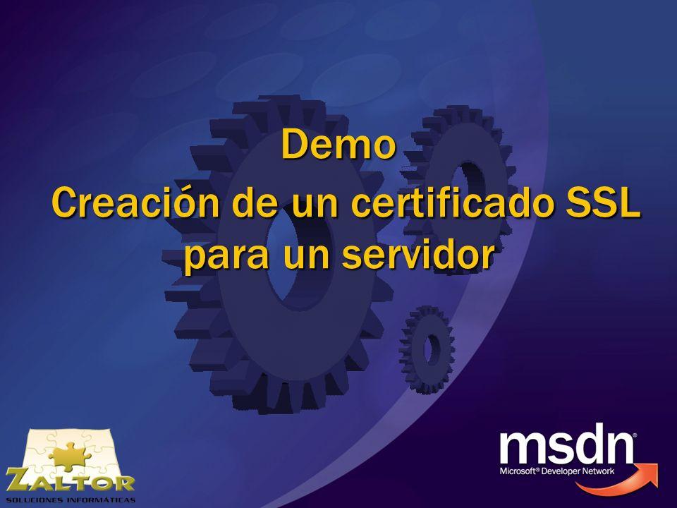 Demo Creación de un certificado SSL para un servidor
