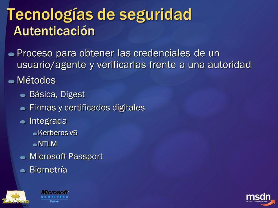 Tecnologías de seguridad Autenticación