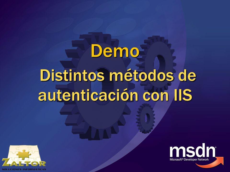 Demo Distintos métodos de autenticación con IIS