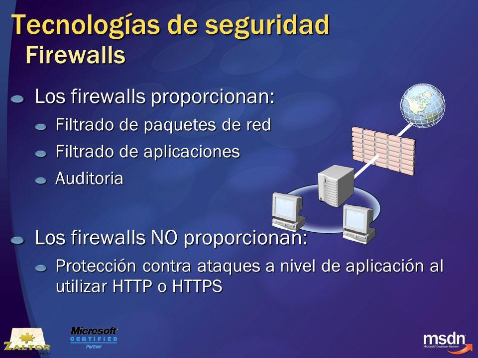 Tecnologías de seguridad Firewalls