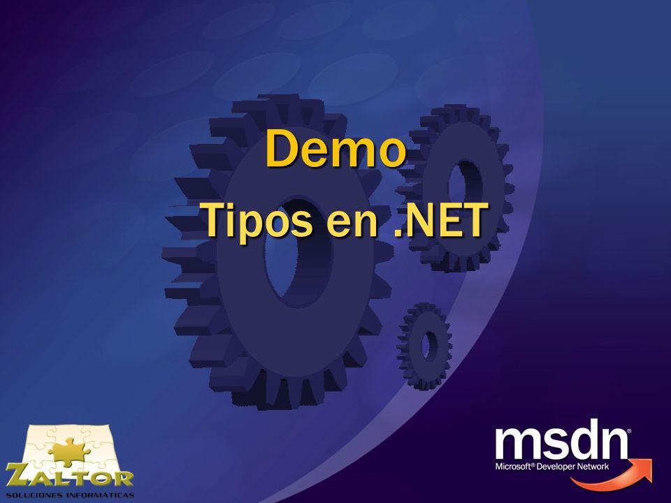 Demo Tipos en .NET