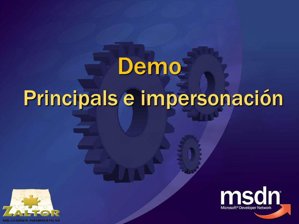 Demo Principals e impersonación