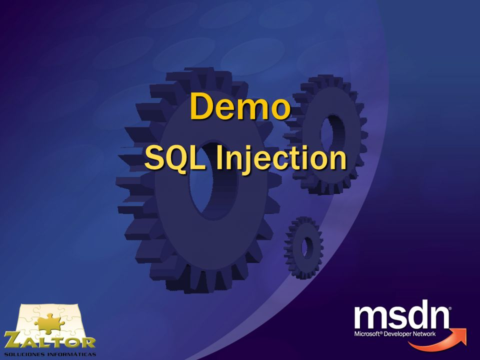Demo SQL Injection