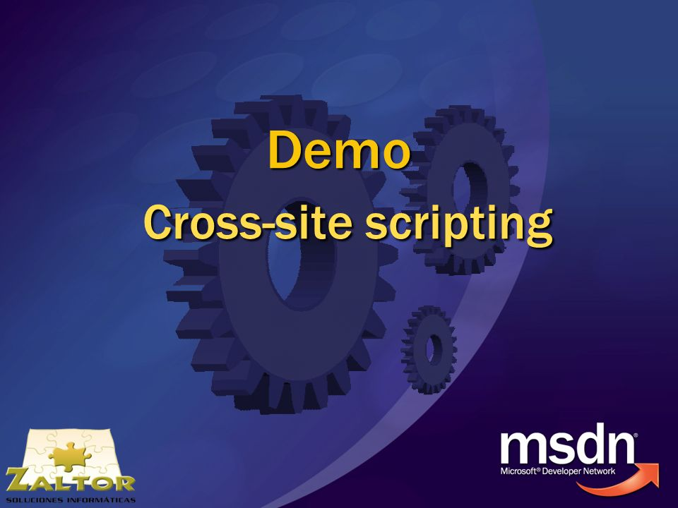 Demo Cross-site scripting