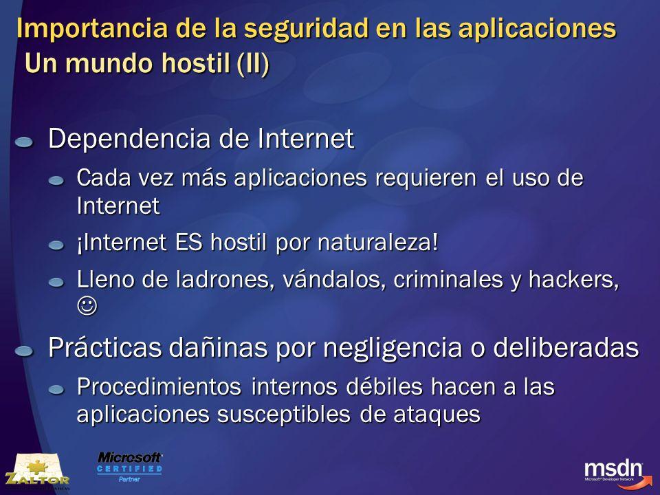 Importancia de la seguridad en las aplicaciones Un mundo hostil (II)