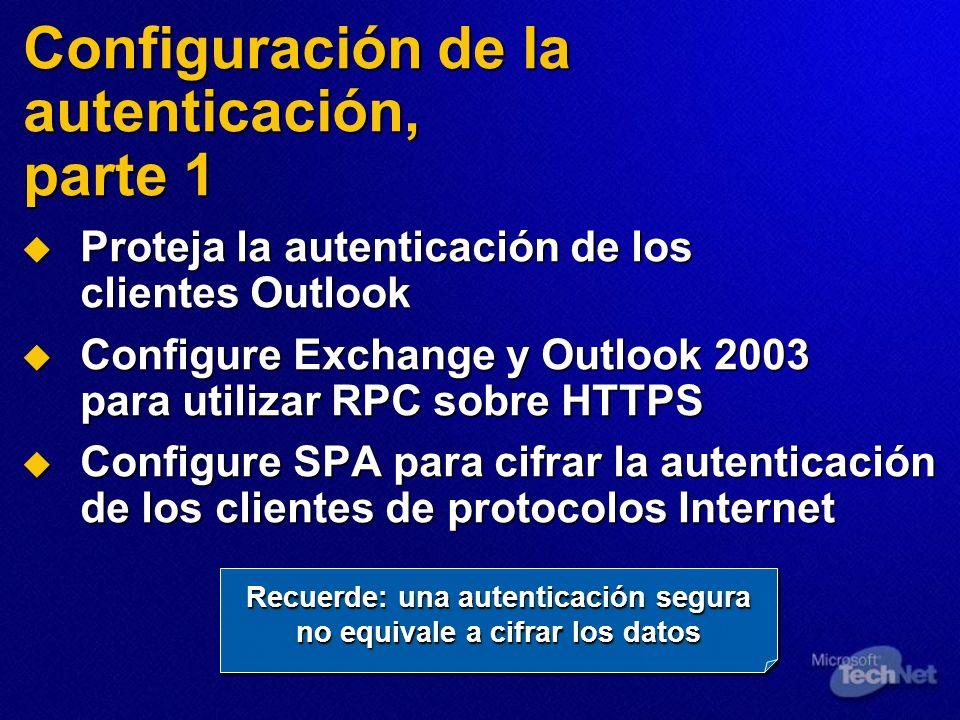 Configuración de la autenticación, parte 1