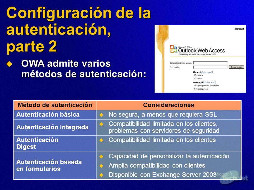 Configuración de la autenticación, parte 2
