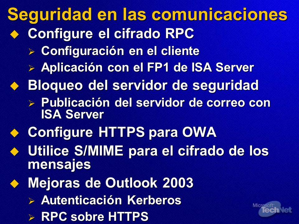 Seguridad en las comunicaciones