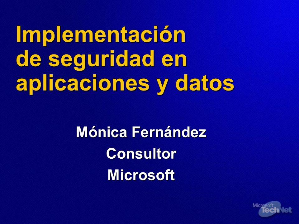 Implementación de seguridad en aplicaciones y datos