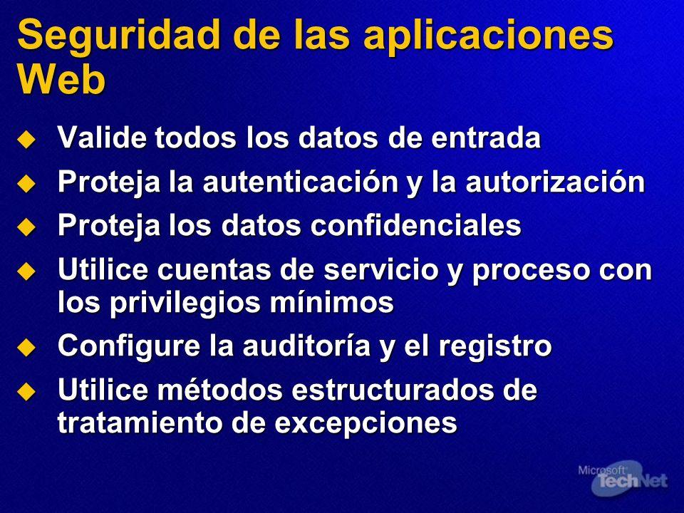 Seguridad de las aplicaciones Web
