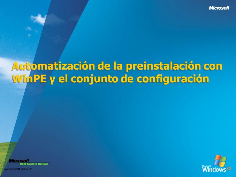 Automatización de la preinstalación con WinPE y el conjunto de configuración