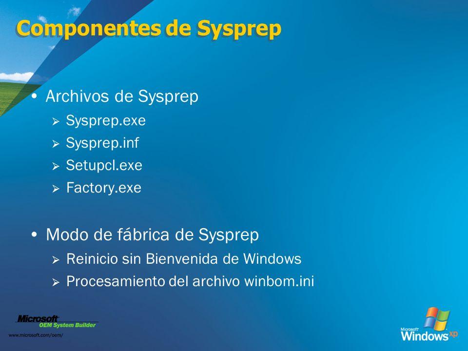 Componentes de Sysprep