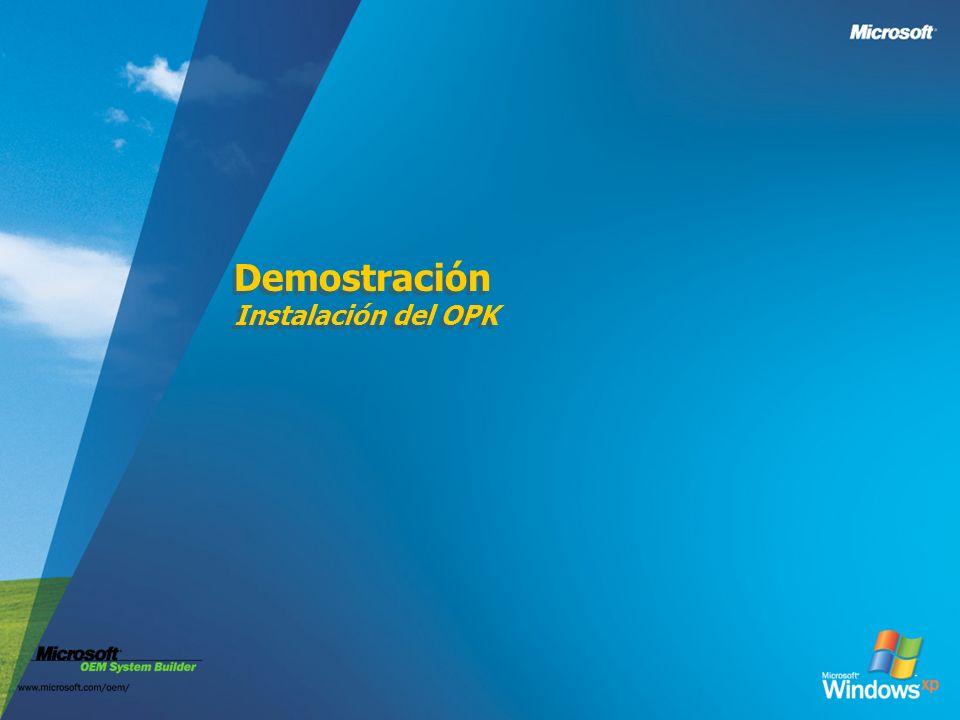 Demostración Instalación del OPK