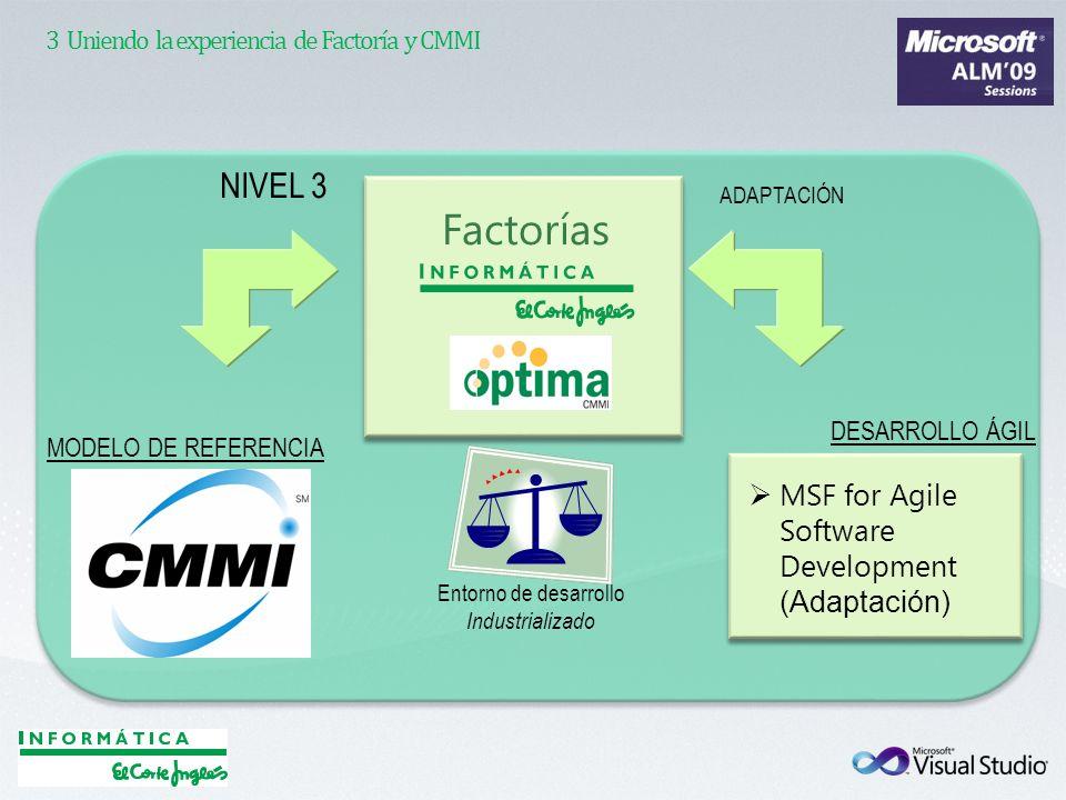 3 Uniendo la experiencia de Factoría y CMMI
