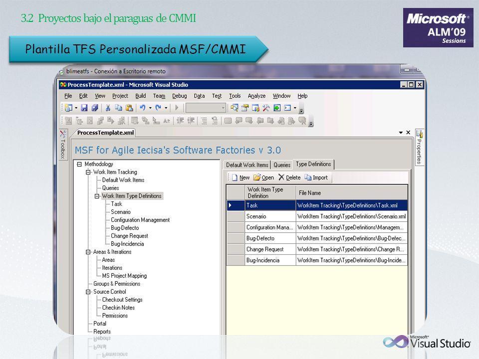 3.2 Proyectos bajo el paraguas de CMMI