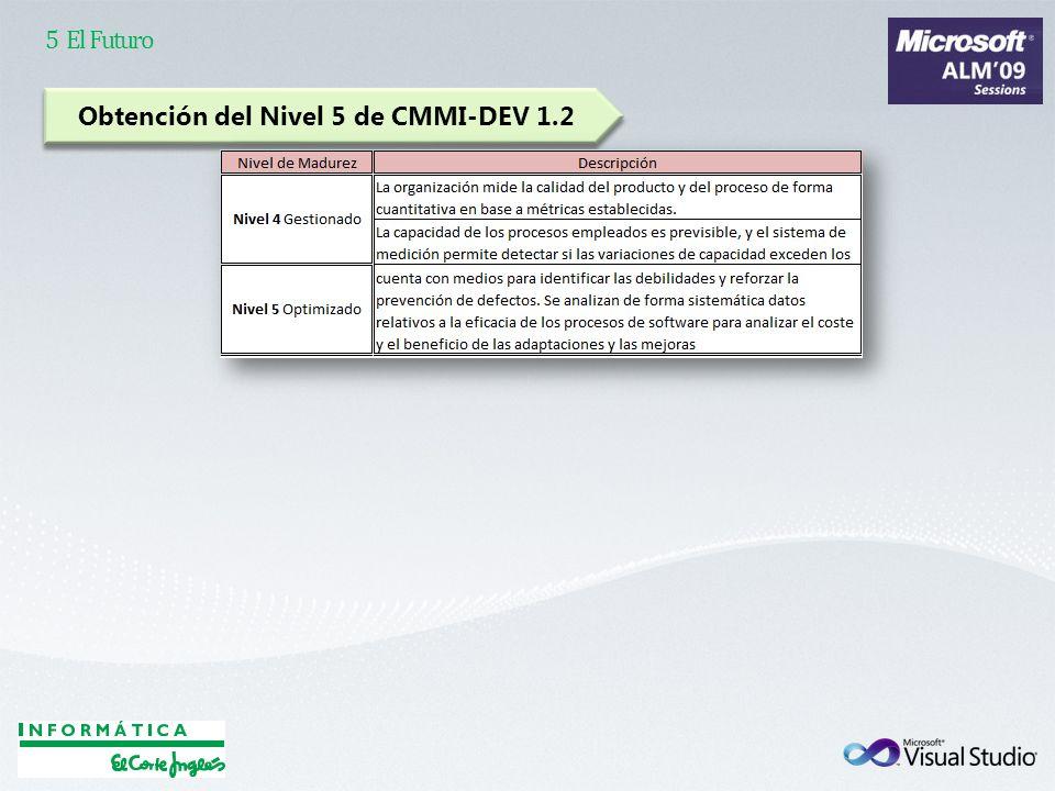 Obtención del Nivel 5 de CMMI-DEV 1.2