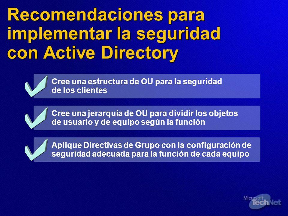 Recomendaciones para implementar la seguridad con Active Directory