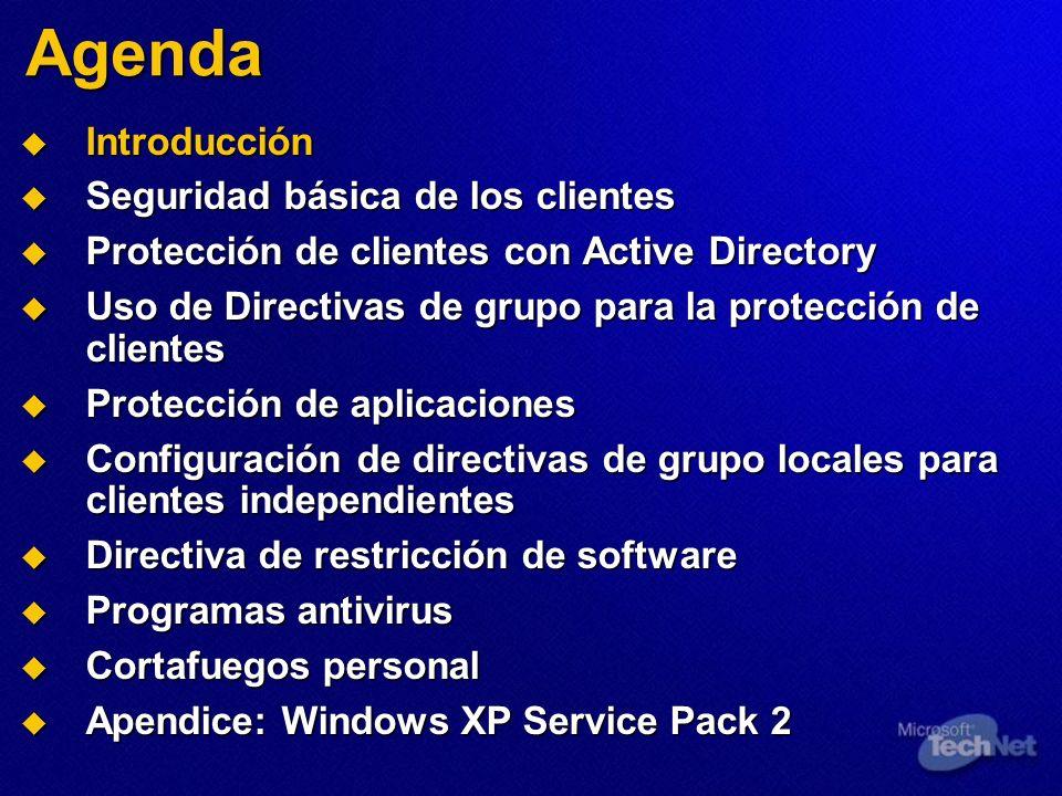 Agenda Introducción Seguridad básica de los clientes