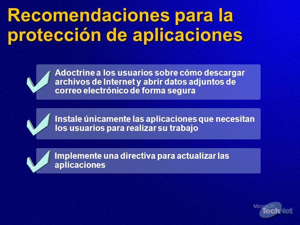 Recomendaciones para la protección de aplicaciones