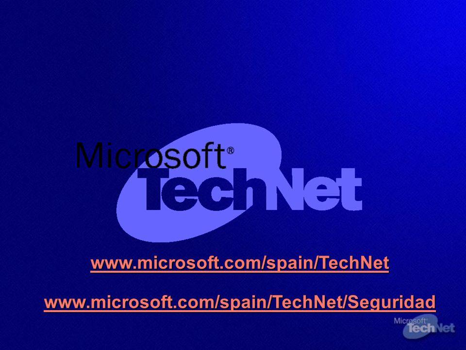 www. microsoft. com/spain/TechNet www. microsoft