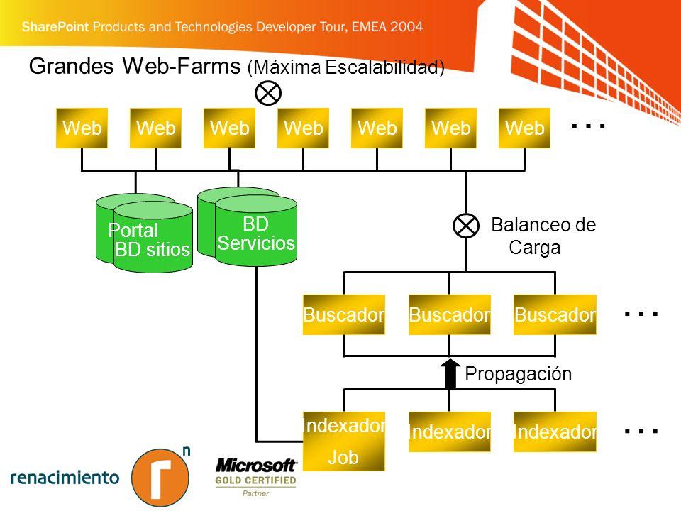 Grandes Web-Farms (Máxima Escalabilidad)
