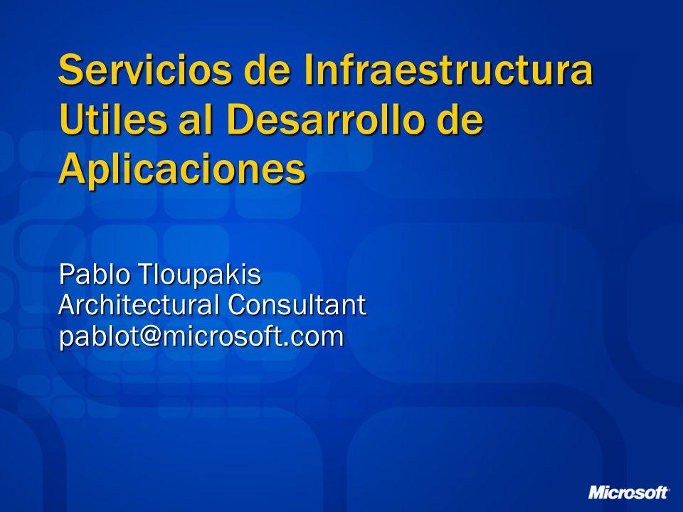 Servicios de Infraestructura Utiles al Desarrollo de Aplicaciones