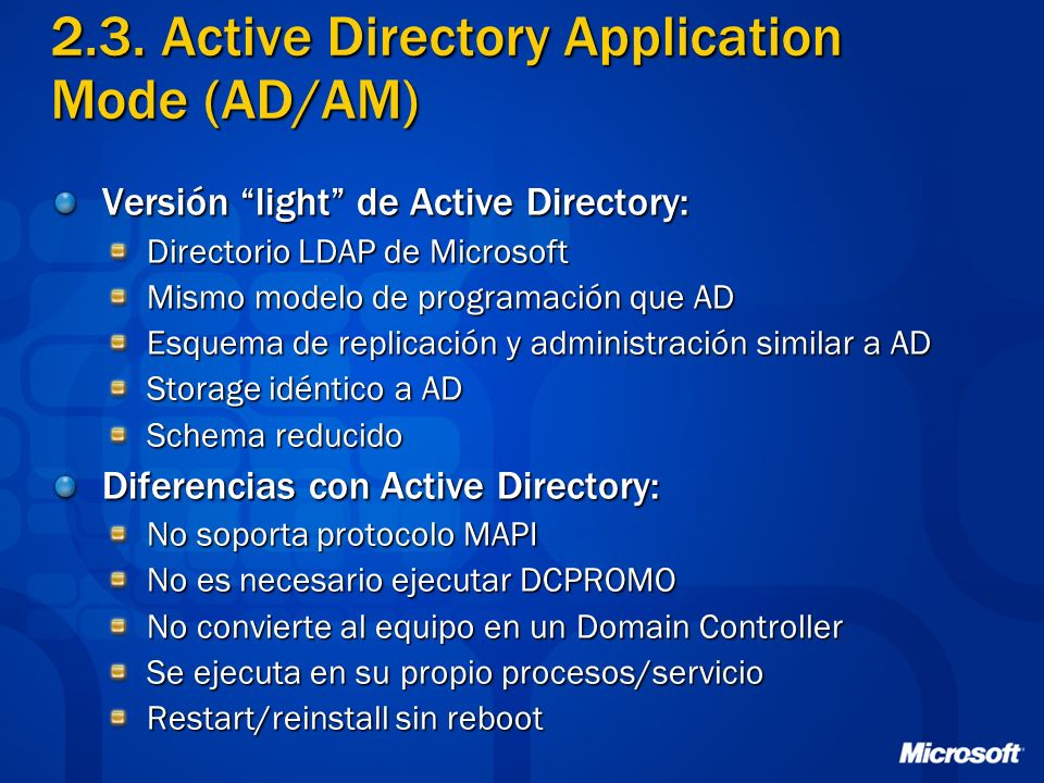 2.3. Active Directory Application Mode (AD/AM)