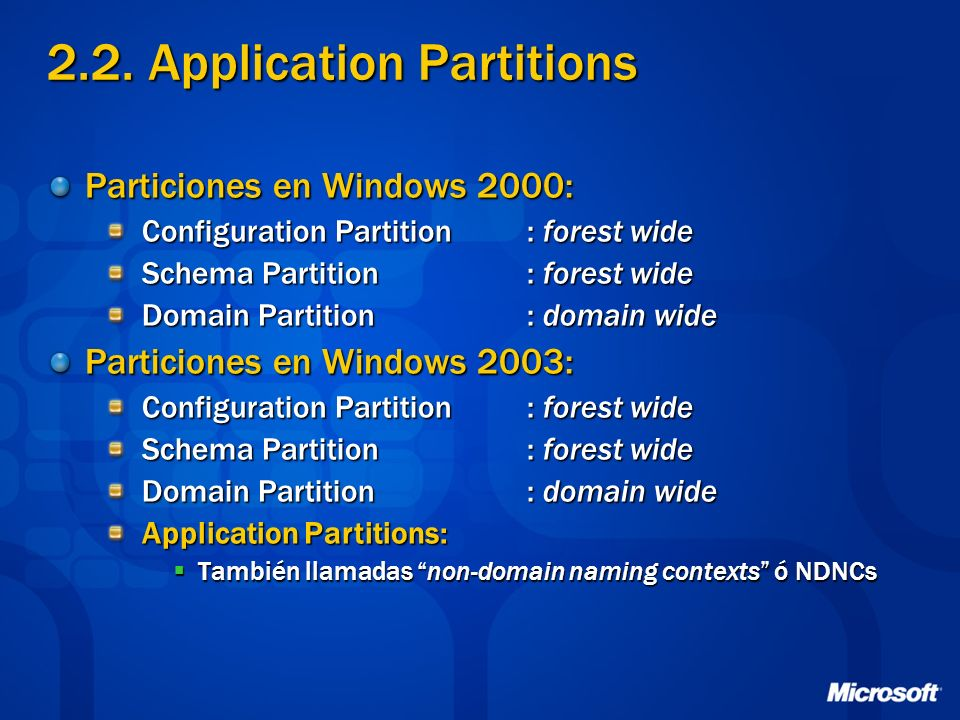 2.2. Application Partitions