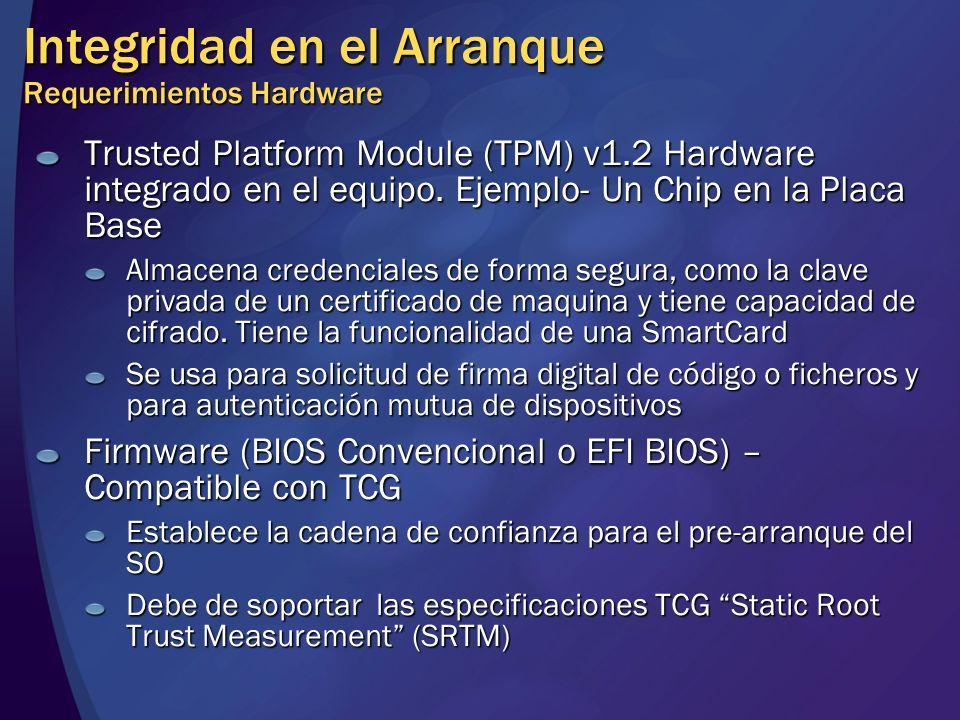 Integridad en el Arranque Requerimientos Hardware