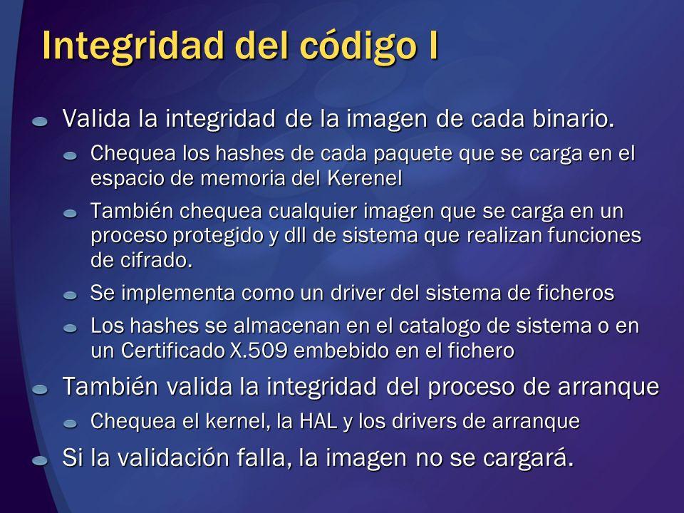 Integridad del código I