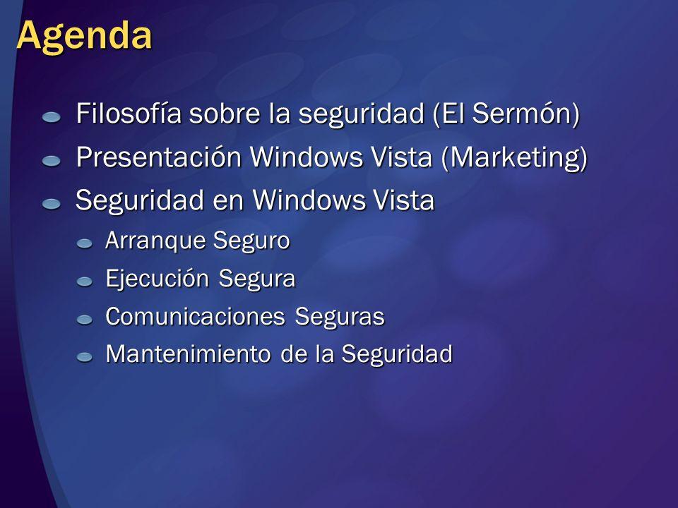 Agenda Filosofía sobre la seguridad (El Sermón)