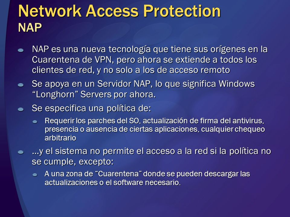 Network Access Protection NAP