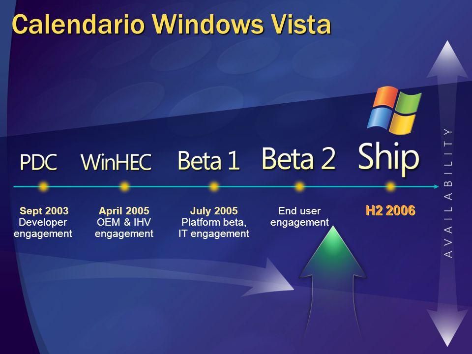 Calendario Windows Vista