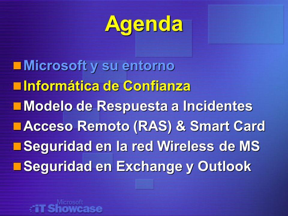 Agenda Microsoft y su entorno Informática de Confianza